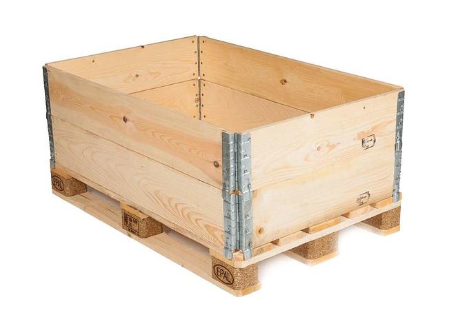 Industrial-packaging-Euro-type-wooden-pallet-collar